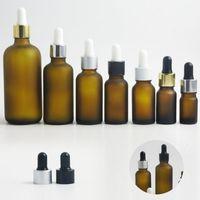 10 x Frost Kozmetik Parfüm Uçucu yağların 100 mi 50 mi 30 mi 20 mi 10 mi için pipetle bir cam damlatma şişesi e Sıvı küçük şişeler kehribar