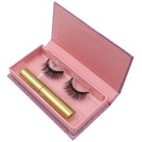 1 Pares 3D Stereo Magnética Eyelashes Magnética Eyeliner Kit Maquiagem Atualizado 3D Magnético Falso Eye Eye Kit Kit sem cola necessária