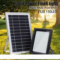 Led Прожектор 150 Leds 3528 Солнечного Flood Light Sensor Открытого сад Путь Улицы Прожектор безопасность Лампа Водонепроницаемая
