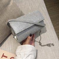 Luxy Mond Frauen Kleine Schultertasche Diamant-Hochzeit Kupplungs-Geldbeutel und Handtasche Gold Silber PU-Leder Messenger Bag ZD1762