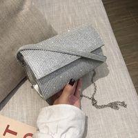 Luxy Women Diamond Gold Shoulder Bag Handbag Wedding Party Moon Purse And Clutch PU Silver Small Leather Messenger ZD1762 Ckcqq