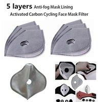 DHL 100 pcs navire anti-buée PM2,5 remplacement Masque Anti Pad Haze poussière Masques bouche activée filtre à charbon FY9040 papier de soins de santé