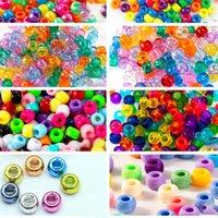 Kunststoff-Perlen frühkindlichen Bildung kleine Toilette Perlen Eimer Perlen 6 * 9MM Farbe DIY Damen-Armband Zubehör