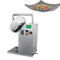 2020 Yüksek Kalite Paslanmaz Çelik Otomatik Hap Badem Fındık Şeker Patlamış Mısır Şeker Çikolata Kaplama Tenceresi Makinesi