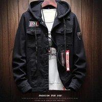 Otoño e invierno nuevo japonés chaquetas con capucha de los hombres de moda de la calle Marca color sólido de manga larga Inicio delgado del ocio para hombre Chaquetas