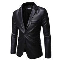 Pu tuta in pelle maschile Casual Jacket Blazer
