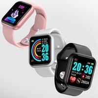 Fitness Watch Bluetooth Sport Smart Watch Presión de Boold Presión cardíaca Fitness Tracker Sleep Message Remind D20 SmartWatch