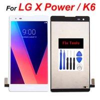 LG X Güç K6 için Cep Telefonu Dokunmatik Paneller LCD Ekran Digitizer Meclisi Ile Düzeltme Araçları Yedek Toptan Yedek Parçalar