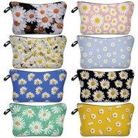 Maquiagem Daisy Dumpling Clutch Bag Wash armazenamento sacos impermeáveis viagem Household Envelope bolsas artigos de lavar portátil Personalizar 5XS B2