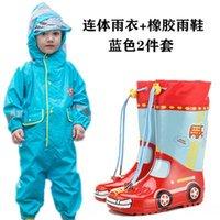 Umbr 9jyxo Jumpsuit Coat Body Raincoat Dinosaur Children's Rainboots Rain Boots Boys' Girls' Baby Rain Set Clothes Kids' Watershoes Din Gwnv