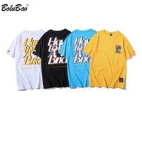 BOLUBAO Moda Marka Erkekler Tişörtler 2020 Kişilik Erkek Hip Hop Baskı T Shirt Erkekler Sokak Stili Pamuk T Shirt