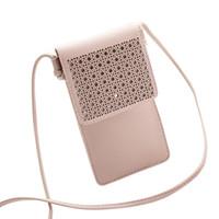 Kadın Crossbody Omuz PU Deri Cüzdan Cep Telefonu Kılıfı Kemer Kılıfı Taşınabilir Evrensel Moda Çantası