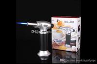 도매 부탄 가스 토치 windproof 제트 불꽃 직선 라이터 금속 담배 시가 토치 흡연 도구 DHL 무료