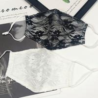 T2I51070-1 kulak maske Tasarımcı maskeler asılı toz geçirmez dış kadın maske çift katmanlı nefes ince bir yüzü maske dantel
