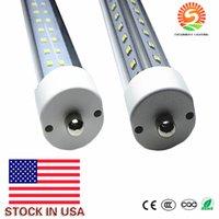 T8 72W LED tubo de luz Bombilla LED de 8 pies de V formado, reemplazo único pin FA8 la base del LED Tienda luces 150W Lámpara fluorescente dual de composición de alimentación