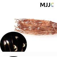 Adaptador de corriente MJJC 10M 100 LED del banquete de boda de cobre de cuerda 12V ligero impermeable al aire libre de Navidad de hadas luces de la decoración + US enchufe de la UE