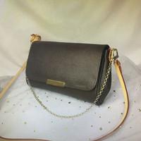 الجملة FAVORITE MM اليد الكلاسيكية أزياء المرأة CROSSBODY حقيبة حقائب الكتف سلسلة جلدية دمير دازور EBENE الصليب الجسم حقيبة N41129 M40717