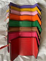 2020 venda quente clássico famoso designer impressa multicolor curto carteira senhoras com boa qualidade atacado