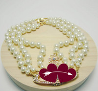 2020 neues Produkt 3-Schicht-Perle Orbit Halskette Damen Strass Satelliten Planeten Halskette Geschenk hohe Qualität