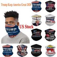 EEUU Stock ciclismo Máscaras Bufanda Unisex Pañuelo Pañuelos Pañuelo de cabeza de la motocicleta del cuello de la mascarilla al aire libre Trump Keep America 2020 Gran bufandas