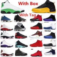 Avec Box 12 Université d'or noir chaussure Royal Game CONCORD Basketball 12s jeu inverse de la grippe Taxi 13s Flint GIGI vert chanceux de sport Chaussures de sport
