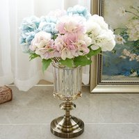 5 fork bundle hydrangea wedding bridal accessories clearance flower wall decorative flowers artificial plants vases for home