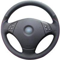 التوجيه الجلود تغطية عجلة القيادة لسيارات BMW E90 335i 335XI 328I 328XI 335D 330I 325I 330XI 325XI اكسسوارات 4D