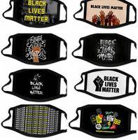 vite nero contano maschera 3D Print Fashion Mask riutilizzabile lavabile in tessuto di copertura FLOYD BLM maschere bocca LJJK2422