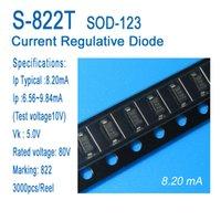 Постоянный ток диод, ток регулятивного диода, CRD, S-822t, SOD-123, СМД, типичный 8.20ma, примененные к светодиодному освещению, светодиодные лампы