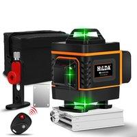 16 Linhas 4D Nível Laser Nível auto-nivelamento 360 horizontal e transversal vertical Super Poderosa Green Laser Nível