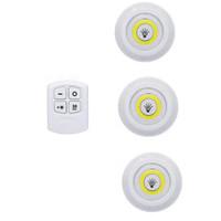 noite pequena luz Dimmable LED gabinete luz com bateria de controle remoto operado Closets Luzes LED para Wardrobe CRESTECH Banho de iluminação