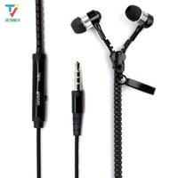 50PCS / الكثير زيبر سماعات الرأس 3.5mm جاك باس سماعات الأذن في الأذن البريدي سماعة الأذن مع هيئة التصنيع العسكري لسامسونج S6 MP3 MP4