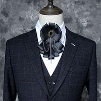 Yeni Çiçek Bow Kravatlar Erkekler El yapımı İngiliz Stili Düğün Sağdıç Papyon Kravat Moda Giyim Aksesuar 16 * 9cm için