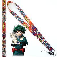 Anahtarlıklar Anime Benim Kahraman Academia Boku Yok Hiro Şekil Cep Telefonu Boyun Askısı Boyunluklar Anahtarlık Sevimli KIMLIK Rozeti Yüzük Cosplay Aksesuarları