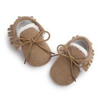 Детские мокасины для новорожденных Мягкая Moccs обувь Первая ходунки Fringe Soled Нескользящая обувь Детская кровать Обувь Кожа PU