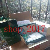롤렉스 박스 YY 무료 배송 시계 상자 럭셔리 녹색 원래 시계 상자 액세서리 종이 카드