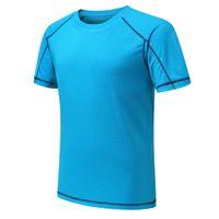 323-Erkekler Wonen Çocuk Tenis Gömlek Spor Eğitim Polyester Koşu Beyaz Siyah Blu Gri Jersesy S-XXL Açık Giyim