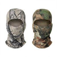 Máscara del pasamontañas de camuflaje táctico de la motocicleta moto de la cara protector de cara caza al aire libre del casco casquillo del cráneo máscara X186D