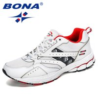 BONA New Designer Popular Estilo Homens Sneakers Shoes Cow Dividir Casual Shoes Men Zapatillas Hombre Zapatos De Hombre