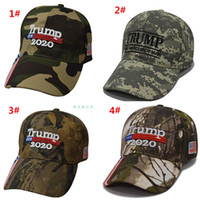 Nueva Donald Trump gorra de camuflaje mantener a Estados Unidos Gran EE.UU. Béisbol Bandera casquillos del Snapback del sombrero bordado estrella Carta del ejército del Cap LJJA1828