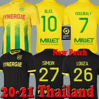 Yeni 20 21 FC Nantes Futbol Forması Ev Sarı Uzakta Siyah Maillot De Ayak 2020 2021Coulibaly Blas Louza Simon Futbol Gömlek Erkekler Kids Kitleri