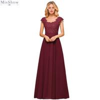 Babyonlinedress Elegant Long Lace Evening Dress 2020 A line Sleeveless Chiffon Formal Gown Applique Beads Backless robe de soiree CPS1453