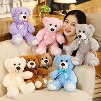 35 cm Sevimli Teddy Bear Peluş Oyuncak Küçük Papyon Ayı Peluş Bebek Karikatür Yedi-Renk Ayı Hayvan Çocuk Bebek Noel Kız Doğum Günü Hediyesi
