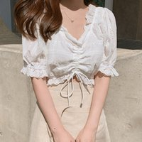 Mulheres Blusas Camisas Bobocateer Haut Femme Branco Blusa Mulheres Plus Size Womens Tops e Mulher 2021 Blusas Verano Mujer Tunique
