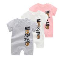 الصيف طفل الفتيان الملابس قصيرة الأكمام بذلة الوليد رومبير طفل رضيع الملابس طفل مولود جديد الرضع 0-24 الطفل السروال القصير