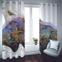 Kreative 3D-Marmor Vorhänge für Kinder Zimmer Blackout Fenster Vorhang Wohnzimmer Mode Foto Vorhänge