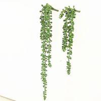 اكليل الزهور الزخرفية الاصطناعي senecio radicans العصارة البلاستيك الأخضر النبات وهمية الأزهار حديقة المنزل مكتب الديكور البندقية ص