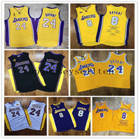 Los AngelesLakers.Kobe.BryantHomens 60th campeão de aniversário remendo de madeiraJersey de basquete clássicos.