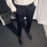 Business Suit Pant caviglia casual Mens Dress Pants NUOVI uomini 2020 molla di alta qualità formale lavoro pantaloni Pantalon 28-36 CX200728