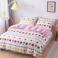 Home Textile Bedding Sets 5 sizeStrawberry Bed Linens 3 4pcs...